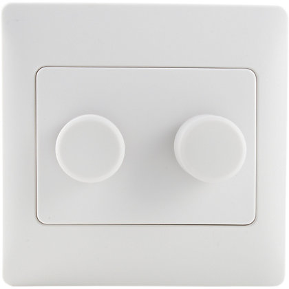 Image for Schneider Electric 250W/VA Double 2 Way Dimmer - White Rubber from StoreName