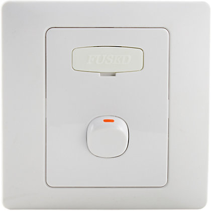 Image for Schneider Electric 13A Switched Fused Connection Unit With Neon - White Rubber from StoreName