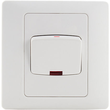 Image for Schneider Electric 45A Double-Pole Switch With Neon - White Rubber from StoreName