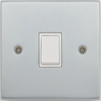Image for Schneider Electric 10AX Single 2 Way Switch - Matt Chrome from StoreName