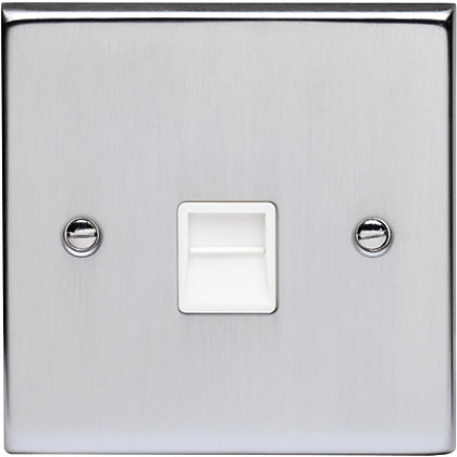 Image for Schneider Electric Secondary Telephone Outlet - Matt Chrome from StoreName