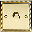 Schneider Electric 400W/VA Single 2 Way Dimmer - Georgian Brass