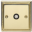Schneider Electric Single TV/FM Outlet - Georgian Brass