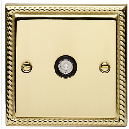 Image for Schneider Electric Single TV/FM Outlet - Georgian Brass from StoreName
