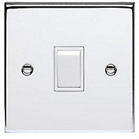 Schneider Electric 10AX Single 2 Way Switch - Polished Chrome