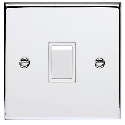 Image for Schneider Electric 10AX Single 2 Way Switch - Polished Chrome from StoreName