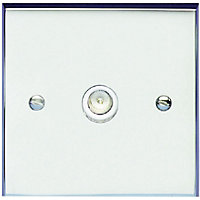Schneider Electric Single TV/FM Outlet - Polished Chrome