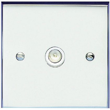 Image for Schneider Electric Single TV/FM Outlet - Polished Chrome from StoreName