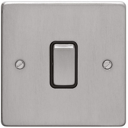 Image for Schneider Electric 16AX Single 2 Way Switch - Brushed Chrome from StoreName