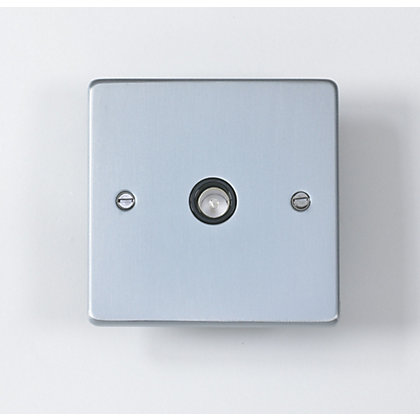 Image for Schneider Electric Single TV/FM Outlet - Brushed Chrome from StoreName
