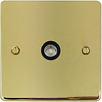 Schneider Electric Single TV/FM Outlet - Polished Brass