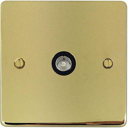 Image for Schneider Electric Single TV/FM Outlet - Polished Brass from StoreName