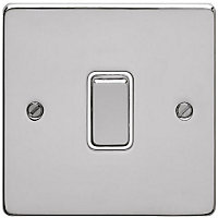 Schneider Electric 16AX Single 2 Way Switch - Polished Chrome
