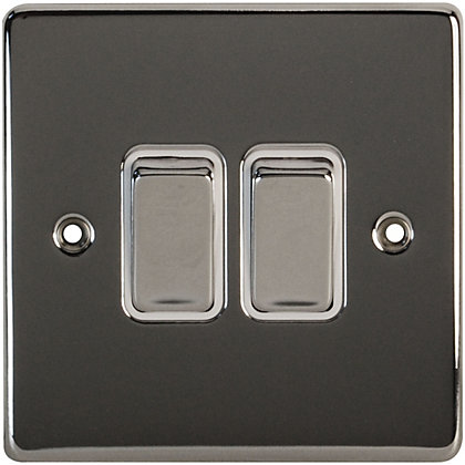 Image for Schneider Electric 16AX Double 2 Way Switch - Polished Chrome from StoreName
