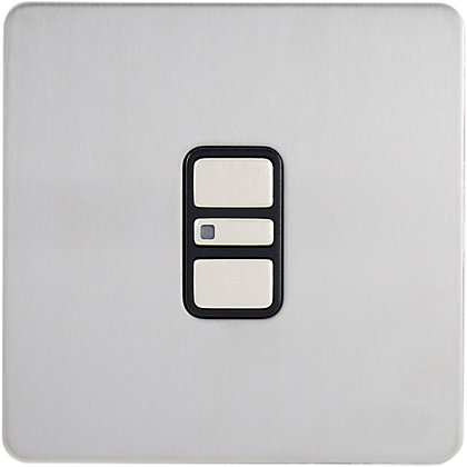 Image for Schneider Electric 300W/VA Single 2 Way Touch Dimmer - Stainless Steel from StoreName