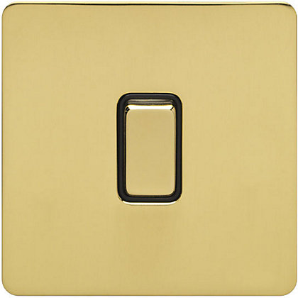 Image for Schneider Electric 16AX Single 2 Way Switch - Polished Brass from StoreName