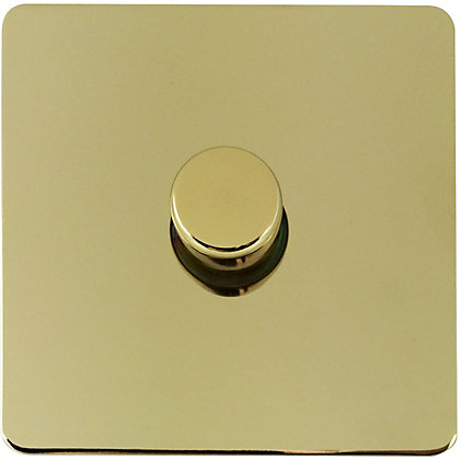 Image for Schneider Electric 400W/VA Single 2 Way Dimmer - Polished Brass from StoreName