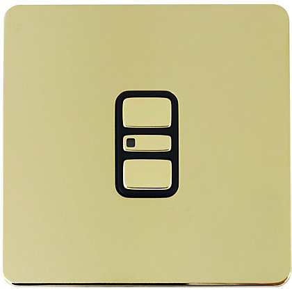 Image for Schneider Electric 300W/VA Single 2 Way Touch Dimmer - Polished Brass from StoreName