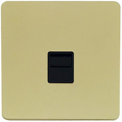 Image for Schneider Electric Secondary Telephone Outlet - Polished Brass from StoreName