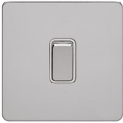 Image for Schneider Electric 16AX Single 2 Way Switch - Polished Chrome from StoreName