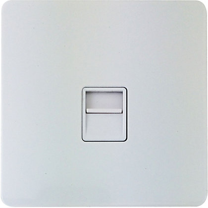 Image for Schneider Electric Secondary Telephone Outlet - Painted White from StoreName
