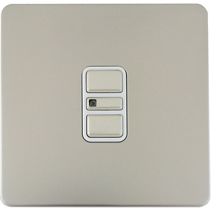 Image for Schneider Electric 300W/VA Single 2 Way Touch Dimmer - Pearl Nickel from StoreName