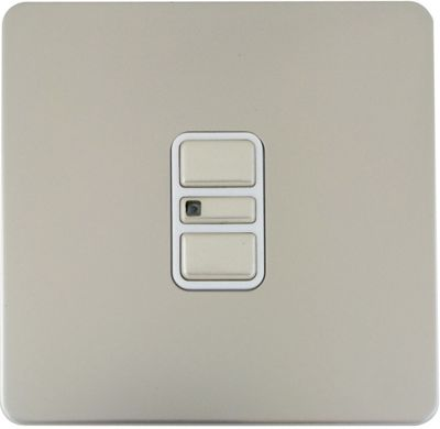 Image of Schneider Electric 300W/VA Single 2 Way Touch Dimmer - Pearl Nickel