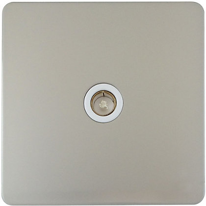 Image for Schneider Electric Single TV/FM Outlet - Pearl Nickel from StoreName