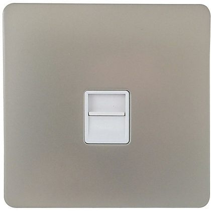 Image for Schneider Electric Secondary Telephone Outlet - Pearl Nickel from StoreName