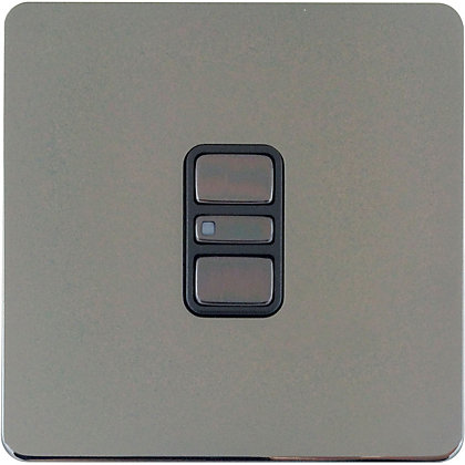 Image for Schneider Electric 300W/VA Single 2 Way Touch Dimmer - Black Nickel from StoreName