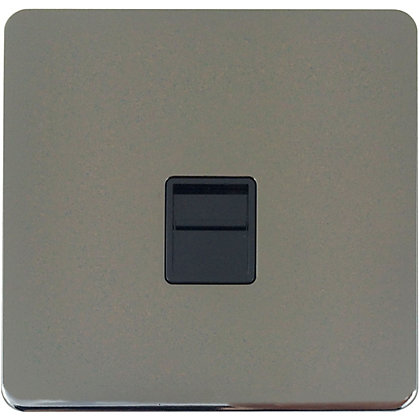 Image for Schneider Electric Secondary Telephone Outlet - Black Nickel from StoreName