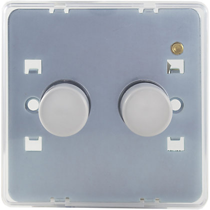 Image for Schneider Electric 250W/VA Double 2 Way Dimmer - Transparent from StoreName