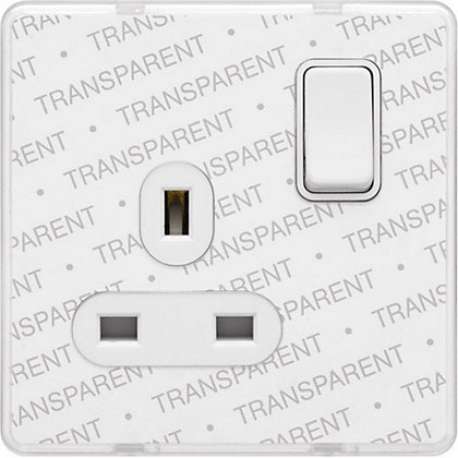 Image for Schneider Electric 13A Single Switched Single-Pole Socket Outlet - Transparent from StoreName
