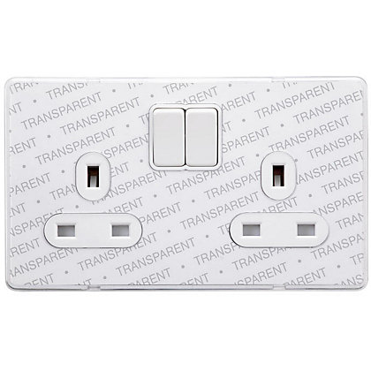 Image for Schneider Electric 13A Double Switched Single-Pole Socket Outlet - Transparent from StoreName