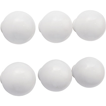 Image for Ceramic Ball Top Knob White 33mm - Pack of 6 from StoreName