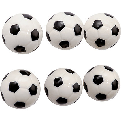 Image for Ceramic Soccor Ball Knob - Pack of 6 from StoreName