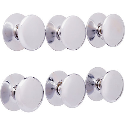 Image for Premium Victorian Knob Chrome 32mm - Pack of 6 from StoreName