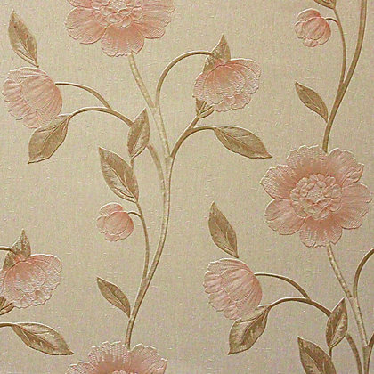 Image for Arthouse Vintage Avellino Floral Wallpaper - Peach from StoreName