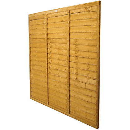 Image for Forest Larchlap Lap 6x6ft Fence Panel - Pack of  3 from StoreName