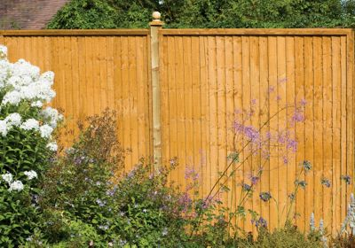 Forest Larchlap Closeboard 1.8m Fence Panel - Pack of  7