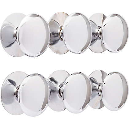 Image for Premium Victorian Knob Chrome 38mm - Pack of 6 from StoreName