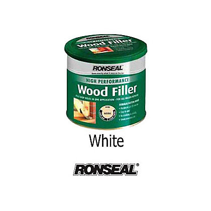 Image for Ronseal High Performance Wood Filler - White - 275g from StoreName