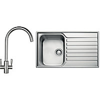 Franke Ascona ASX 611 Sink and Tap Package - 1 Bowl