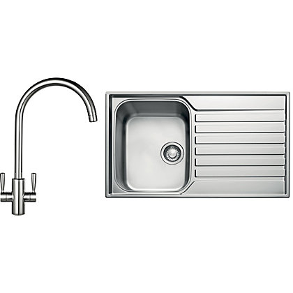 Image for Franke Ascona ASX 611 Sink and Tap Package - 1 Bowl from StoreName