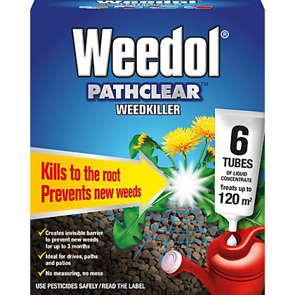Image for Weedol Pathclear Liquid Concentrate Weedkiller - 6 Tubes from StoreName