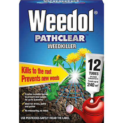 Image for Weedol Pathclear Liquid Concentrate Weedkiller - 12 Tubes from StoreName