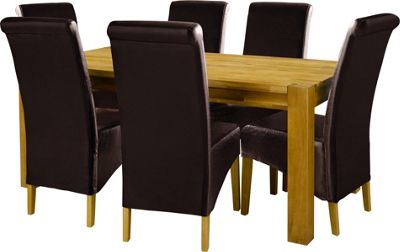 Schreiber Woburn Table amp 6 Chocolate Chairs : 176632RZ001largeampwid800amphei800 from netdosh.co.uk size 800 x 800 jpeg 37kB