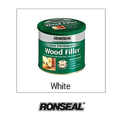 Image for Ronseal High Performance Wood Filler - White - 550g from StoreName