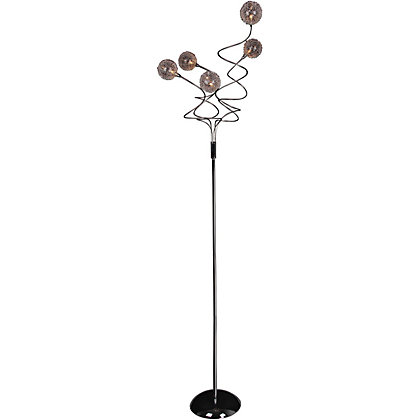 Image for Aluminium Glass Ball  5 Light Floor Lamp from StoreName