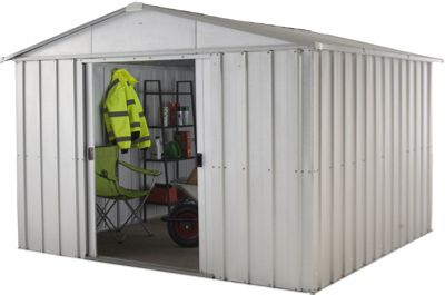 Yardmaster Apex Roof Metal Shed - 10ft x 8ft